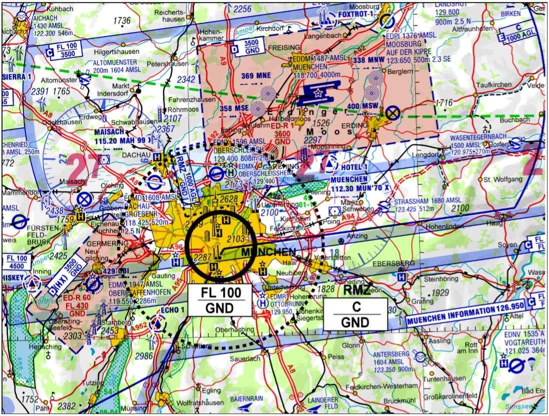 Luftraumkarte zur SiKo 2018