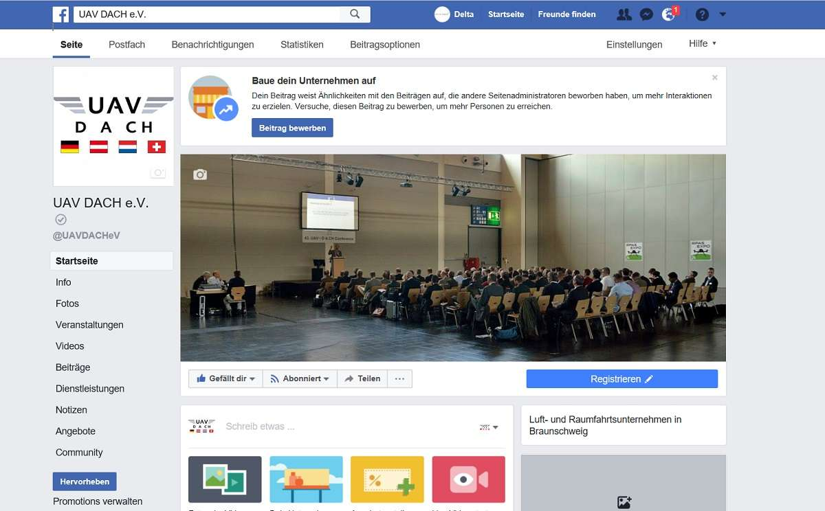 UAV DACH Facebook
