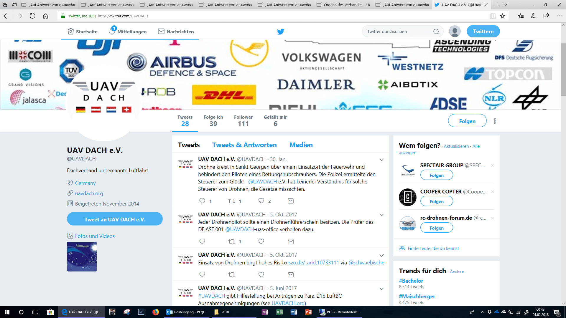 UAV DACH Twitter