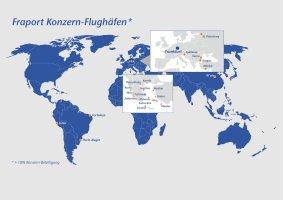 Fraport-Beteiligungen weltweit, Übersicht 2018