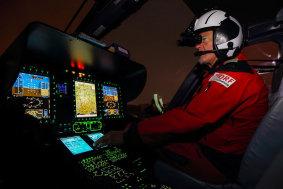 DRF Cockpit Nachtflug 2018