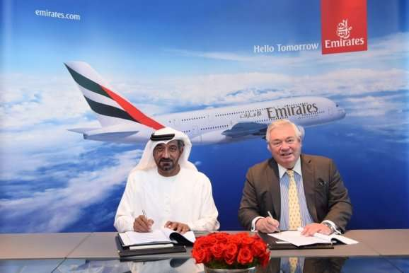 Emirates Scheich Achmed John Leahy Unterschrift A380