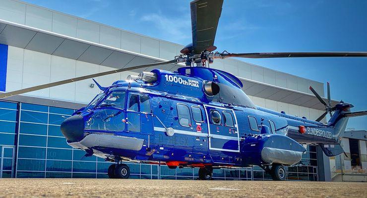 Airbus Helicopters H215 für die Bundespolizei - der 1000. Super Puma.