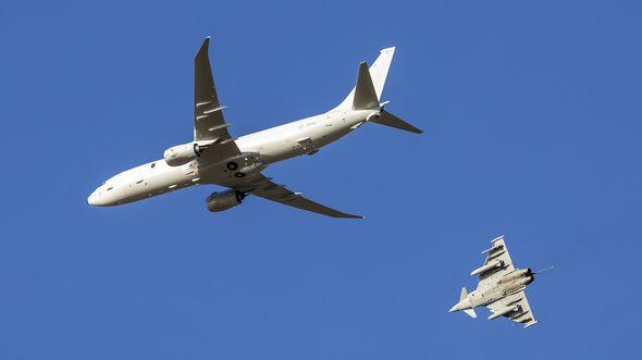 Poseidon MRA1 der RAF trifft am 4. Februar 2020 in Kinloss ein