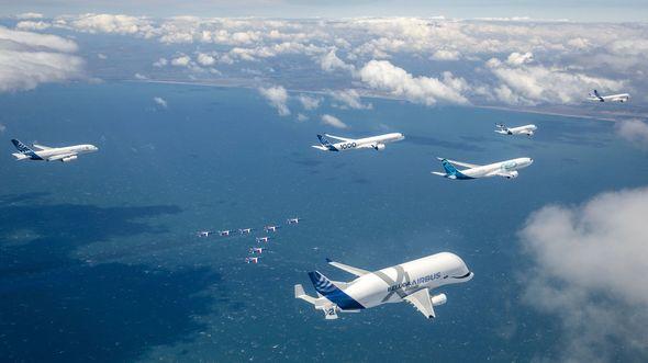 50 Jahre Airbus - Jubiläumsformation