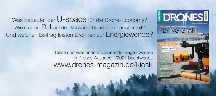 Jetzt lesen: Drones 1/2021 als Digital-Ausgabe erhältlich