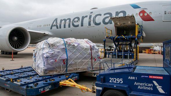 Eine Boeing 777-300 flog am 20. März 2020 den ersten reinen Frachtflug von American Airlines seit 1984.