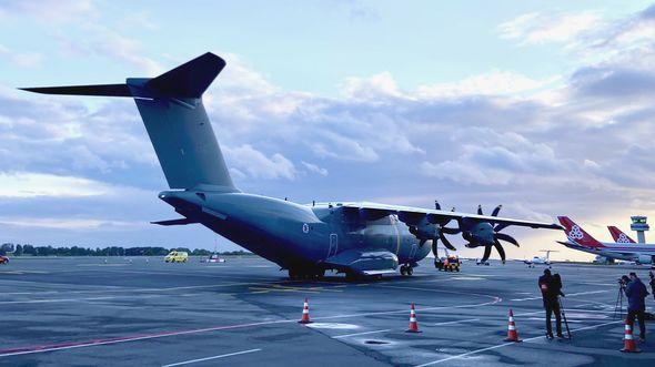 Die von Luxemburg bestellte A400M wurde am 7. Oktober 2020 nach Findel geflogen.
